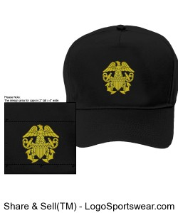 Navy Youth Command Ball Cap Design Zoom